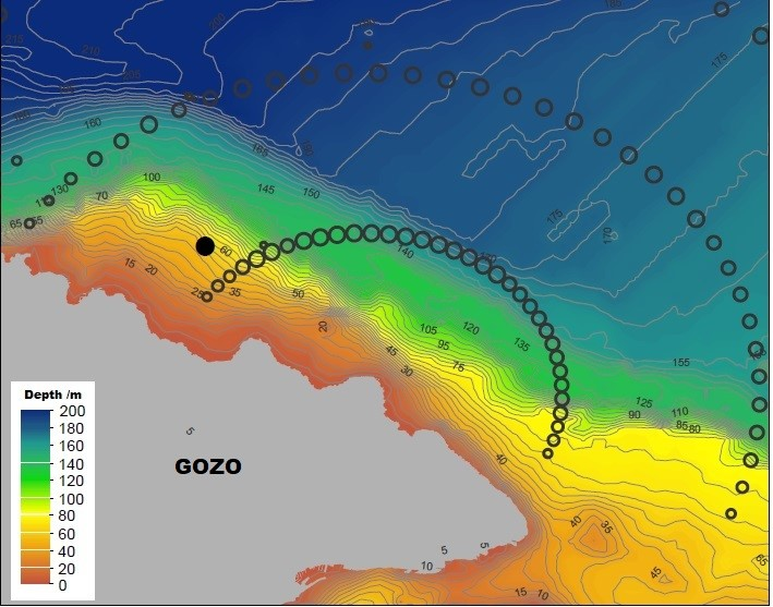 Map showing location of 