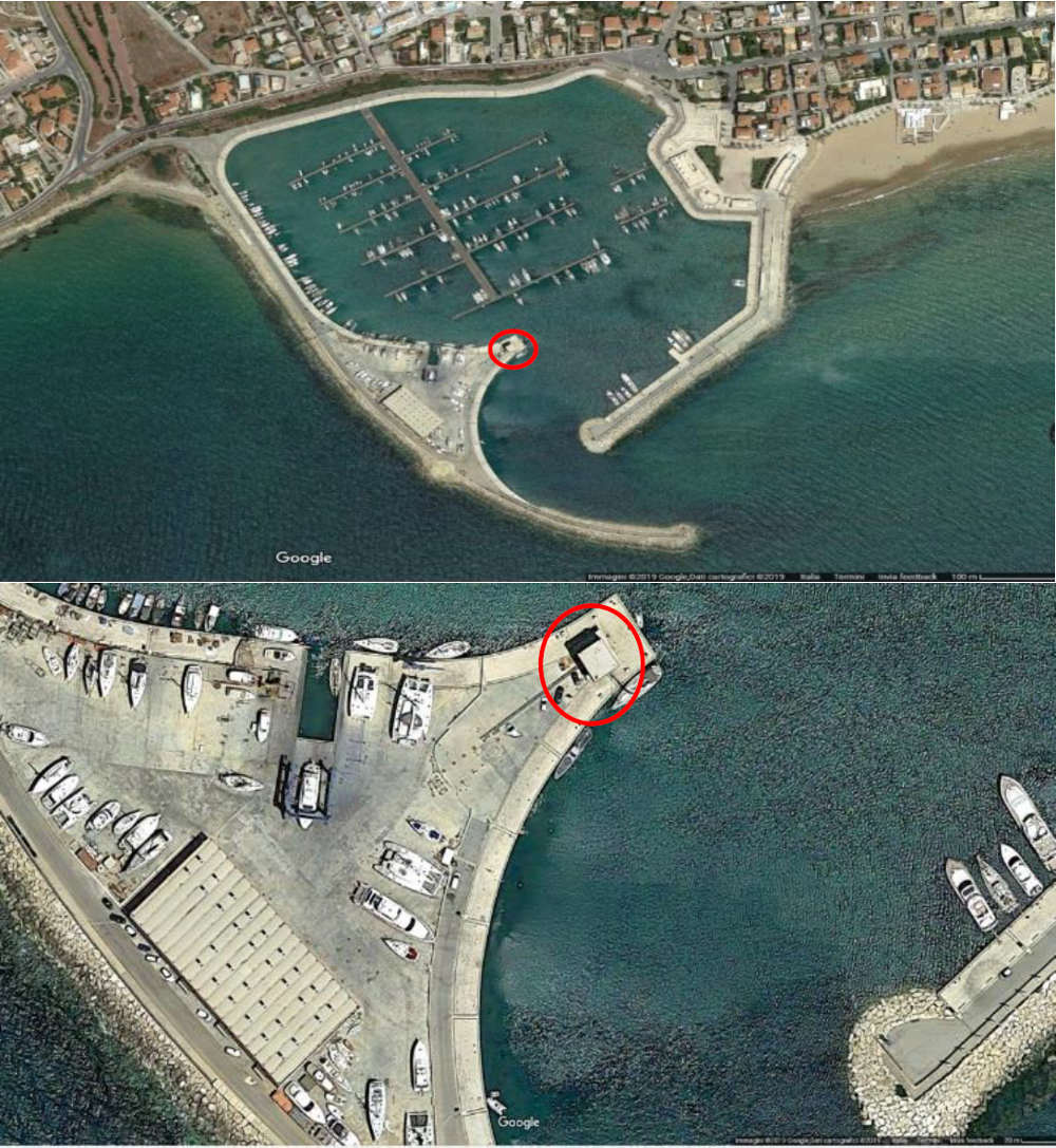 Location of station in Marina di Ragusa